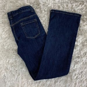 Gymboree 10 Slim Dark Denim Jeans Flare Adj Waist